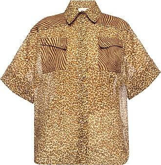 Zimmermann Patterned Shirt Womens Brown