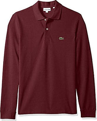 05f340bd5 Lacoste Mens Long Sleeve Pique Classic Fit Chine Polo Shirt