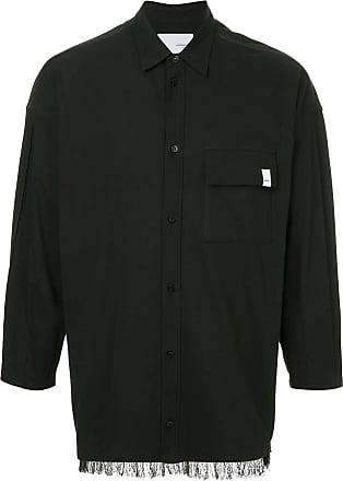 Yoshiokubo fringed hem shirt - Black