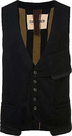 Ziggy Chen patch pocket vest - Black