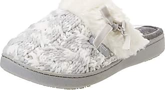 c51f6f6400 Isotoner Knit Mule Faux Fur Cuff Slipper