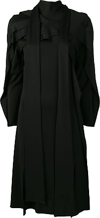 Koché panelled long sleeved dress - Preto