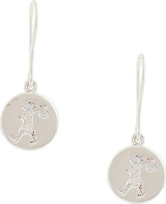 Karen Walker Runaway Stamp earrings - SILVER