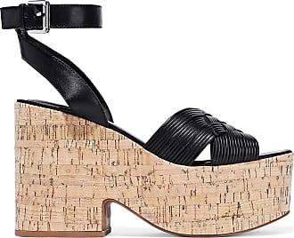 Sigerson Morrison Sigerson Morrison Woman Becca Leather Platform Sandals Black Size 9.5