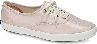 Keds Womens CH Metallic Linen Rose Trainers, Gold (Gold 35), 6 UK