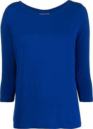 Majestic Filatures Blusa cropped de tricô - Azul