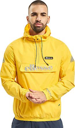 Ellesse Berto 2 6449 Lightweight Reflect Rain Overhead Hood Jacket X-Large Yellow