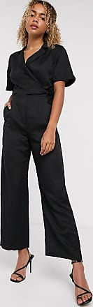 & Other Stories linen wide leg jumpsuit in black