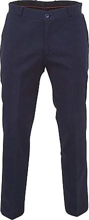 Relco Mens Classic Navy Blue Stay Press Trousers Size 38