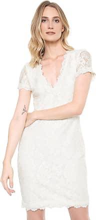 Ana Hickmann Vestido Ana Hickmann Curto Renda Off-White