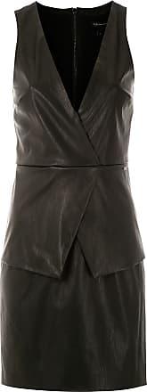 Armani Vestido com decote transpassado - Preto