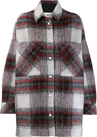 Iro oversized check print coat - Grey