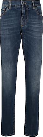 Dolce & Gabbana Calça jeans slim com bordado DG - Azul