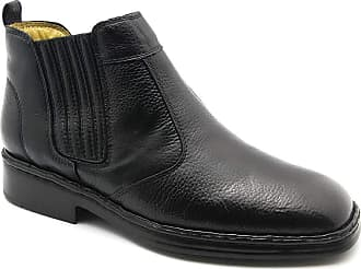Doctor Shoes Antistaffa Botina Masculina 1000 em Couro Floater Preto Doctor Shoes-Preto-37