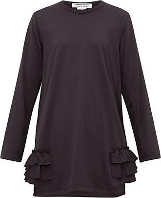 Comme Des Garçons Comme Des Garçons Comme Des Garçons - Ruffle-trimmed Longline Top - Womens - Black