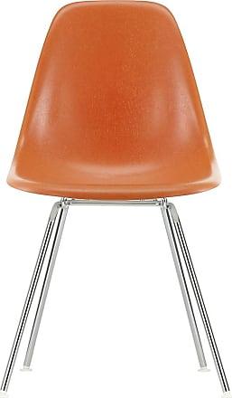 Vitra DSX Fiberglass Side Chair Chrome Base