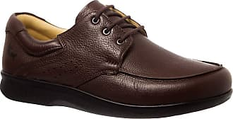 Doctor Shoes Antistaffa Sapato Masculino em Couro Café Floater 3050 Doctor Shoes-Marrom-37