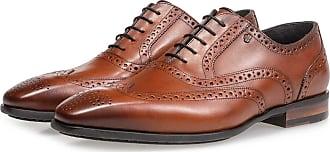Floris Van Bommel Cognacfarbener Kalbsleder-Brogue, Business Schuhe, Handgefertigt