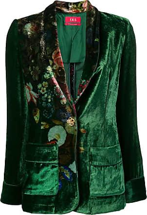 F.R.S. For Restless Sleepers Blazer floral de veludo - Verde