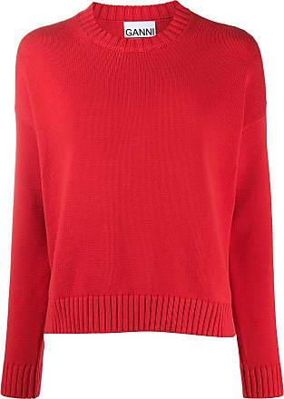 Ganni Suéter oversized com acabamento canelado - Vermelho