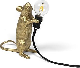 Seletti Mouse Lamp Gold Standing - European Plug