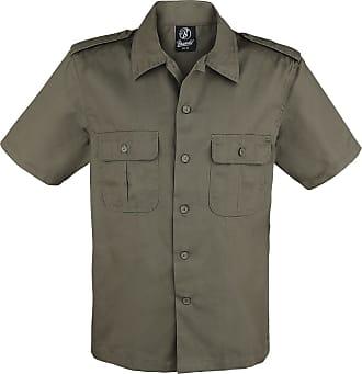 1348885ee180 Brandit 1/2 Sleeve US Shirt - Herr-Kortärmad tröja - oliv