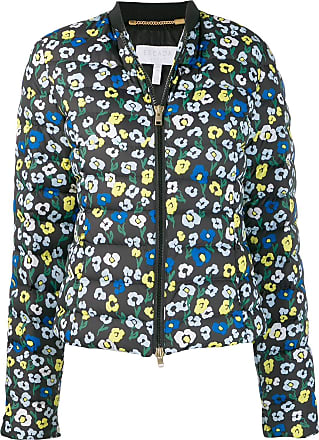Escada Sport floral-print quilted jacket - Azul