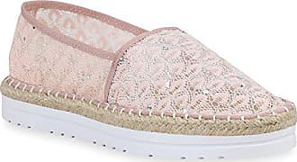 66f41c6be57c29 Stiefelparadies Damen Schuhe Espadrilles Bast Slippers Plateau Slip Ons  160168 Rosa Bast 38 Flandell