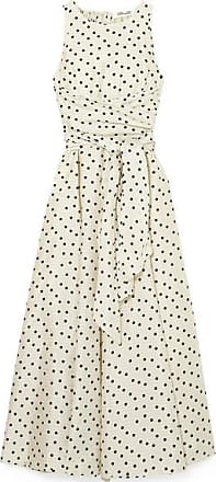 Diane Von Fürstenberg Polka-dot Silk Maxi Dress - Cream
