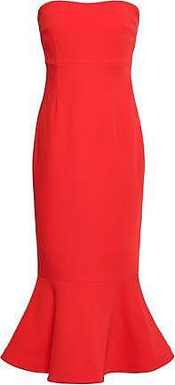 2e8d713c30f3 Cinq à Sept Cinq À Sept Woman Luna Strapless Fluted Crepe Midi Dress Tomato  Red Size