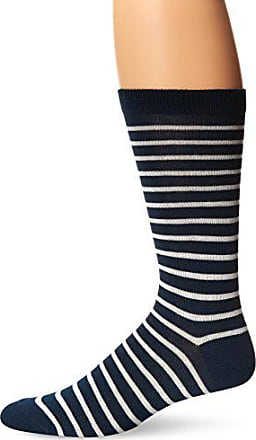 Ozone Mens Classic Stripe Sock, Navy, One Size