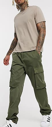 French Connection slim fit cargo trousers-Green