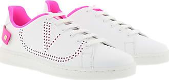Valentino Sneakers - Backnet Sneakers Calfskin White Pink - colorful - Sneakers for ladies