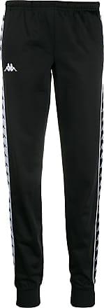 Kappa logo tape track pants - Black