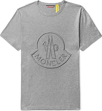 6fdfb627b6b30d Moncler 2 Moncler 1952 Logo-embroidered Cotton-jersey T-shirt - Gray