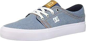 DC Womens Trase TX SE Skate Shoe, White/Blue, 10 M US