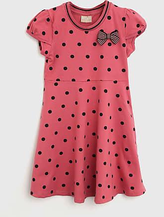 Milon Vestido Milon Infantil Poá Rosa