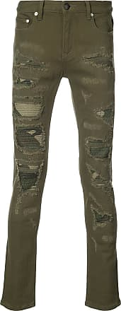 Gods Masterful Children Distressed camouflage panel jeans - Green