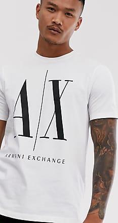 A X Armani Exchange Icon AX large logo t-shirt in white