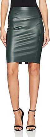 2ce9dbfce9c9a Vero Moda Vmrib Butter Hw Knee PU Skirt, Jupe Femme, Vert (Green Gables