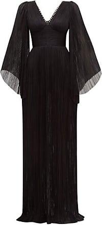 Maria Lucia Hohan Catalina Plissé Silk-tulle Maxi Dress - Womens - Black