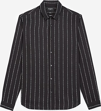 The Kooples Striped black shirt with classic collar - MEN