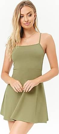 Forever 21 Forever 21 Cami Fit & Flare Mini Dress Olive