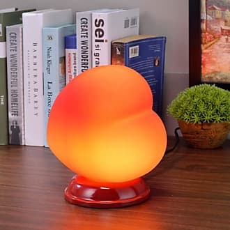 ORE International Red Heart Table Lamp