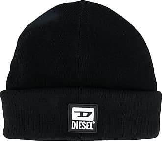 Diesel Gorro com patch de logo - Preto
