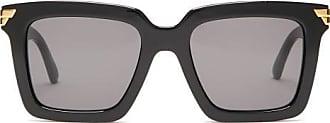 Bottega Veneta Square Acetate Sunglasses - Womens - Black
