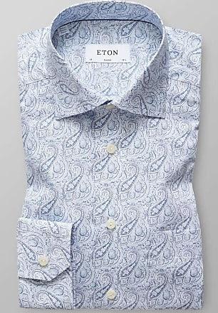 Eton Classic Fit Hemd blau, Paisley