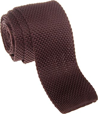 Retreez Vintage Smart Casual Mens 2 Skinny Knit Tie - Dark Brown
