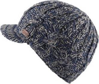 KuSan 100% Wool Cable Knit Brooklyn Peaked Cap PK1937 (Navy)