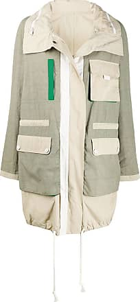 Yves Salomon - Army colour block rain coat - Green